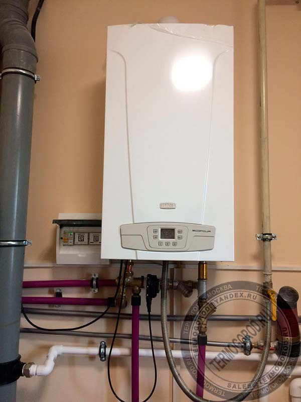 ZONT H1V Open Therm Box и котел Baxi Eco Four