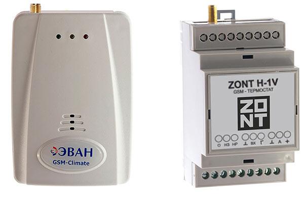 GSM термостаты ZONT H-1 GSM-Climate и ZONT H-1V