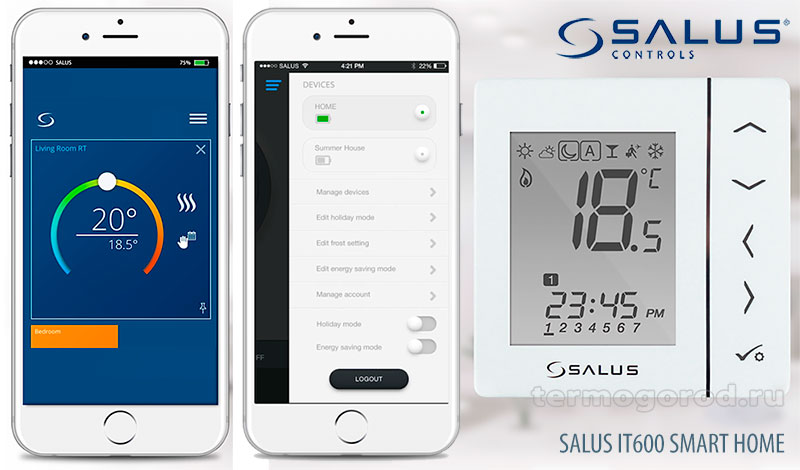 Salus iT600 Smart Home (Умный дом)