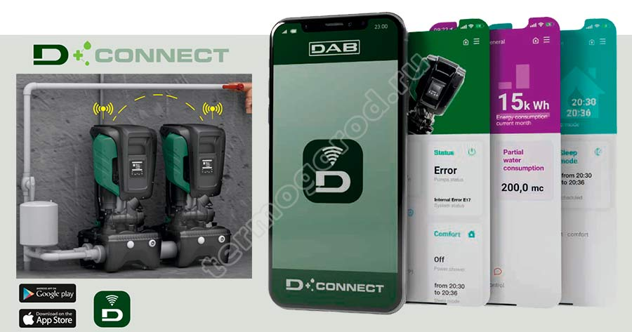 дистанционное управление насосными станциями DAB ESYBOX MAX