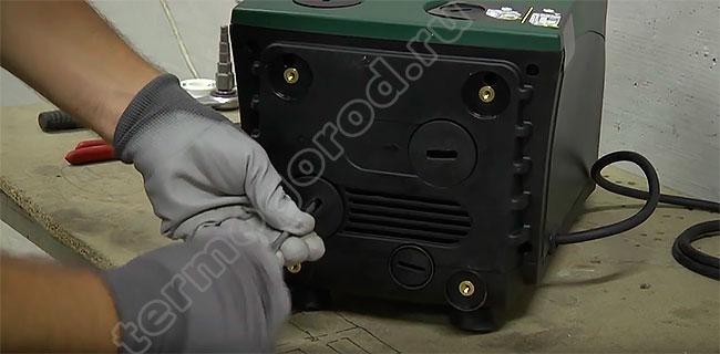 Удаление заглушек станции E.sybox mini