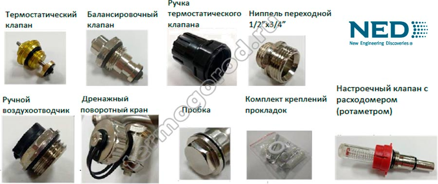 Коллекторы NED Thermo Split состав