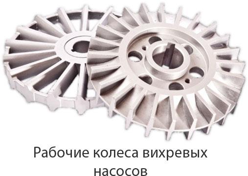 Рабочие колеса вихревых насосов