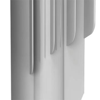 Алюминиевые радиаторы Royal Thermo оребрение на вертикальном коллекторе.