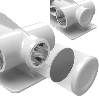 Заглушка повышенной прочности в алюминиевых радиаторах Royal Thermo