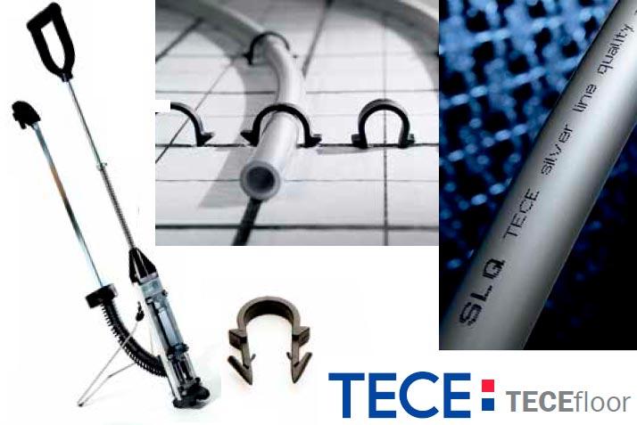 TECEfloor крепление трубы для теплого пола
