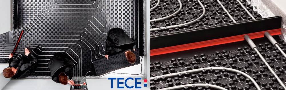 Трубопроводная система для теплого пола TECEfloor