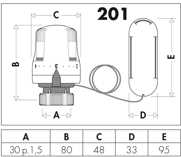 caleffi 201 размеры