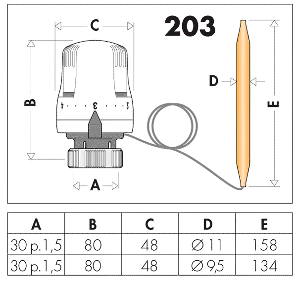 Геометрические и присоединительные размеры Caleffi 203702