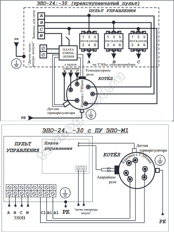 Схема подключения Эван ЭПО 24 30