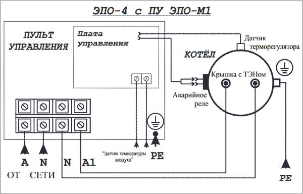 Схема подключения Эван ЭПО 4