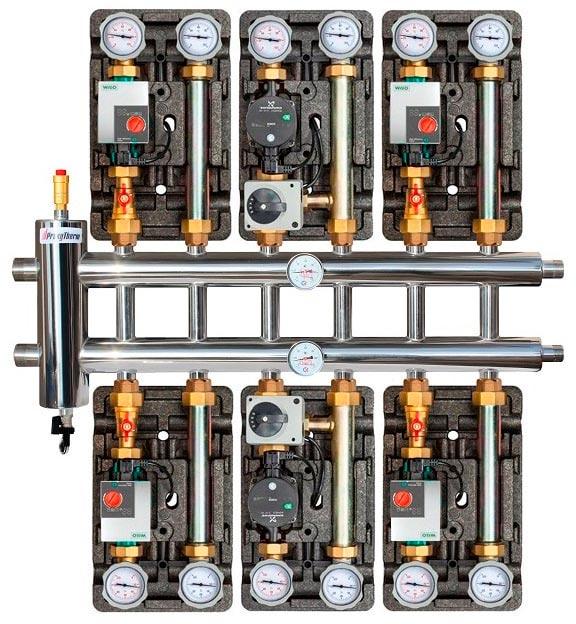коллектор прокситерм gsk 32 7 монтаж с насосной группой