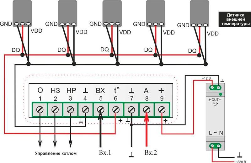 micro line zont h1v подключение