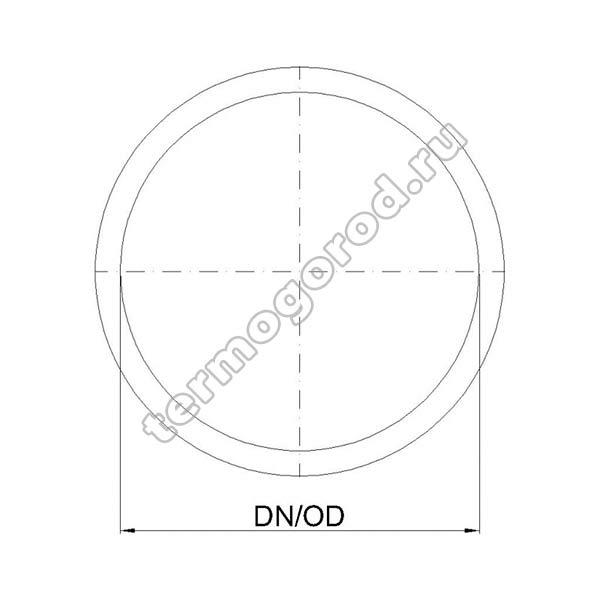 Габаритные и присоединительные размеры сменного уплотнительного кольца 02931
