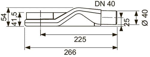 Габаритные и присоединительные размеры сифона 650004