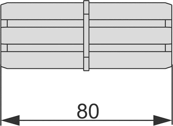 Геометрические размеры торцевого соединения профиля TECEprofil 9010009