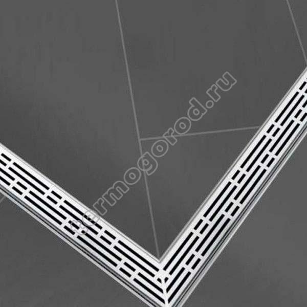 внешний вид угловой решетки TECEdrainline 611010