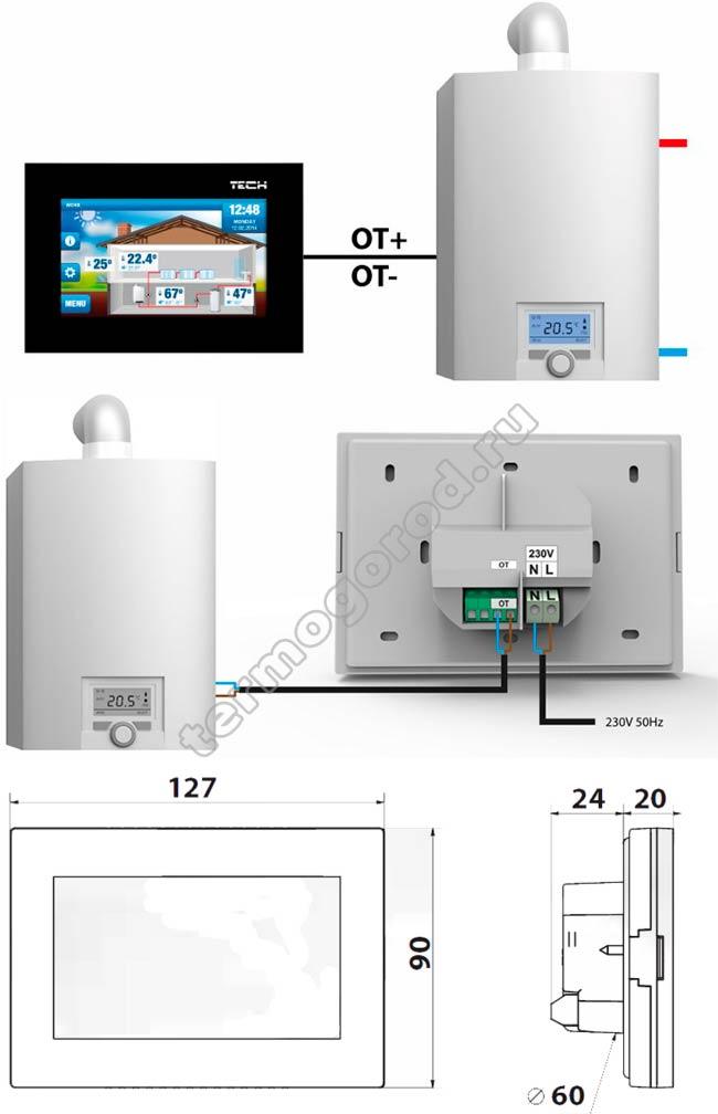 Схема подключения Tech ST-2801