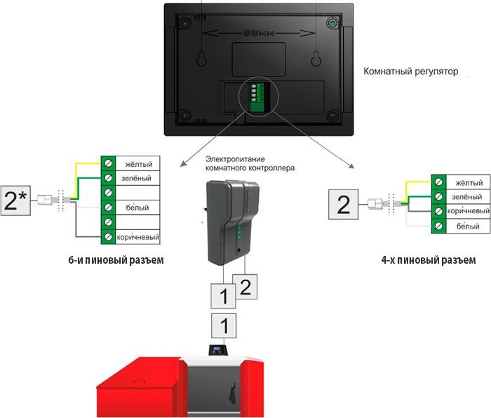 Схема подключения Tech ST-281
