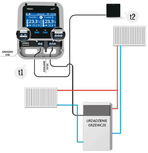 Схема подключения Tech Wi-Fi PK