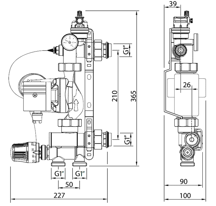 Геометрические размеры Uni-Fitt Solomix