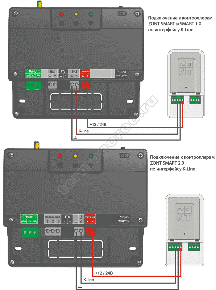 zont adapter e-bus eco схема подключения 2