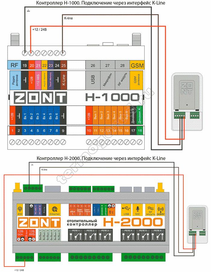 zont adapter e-bus eco схема подключения 5