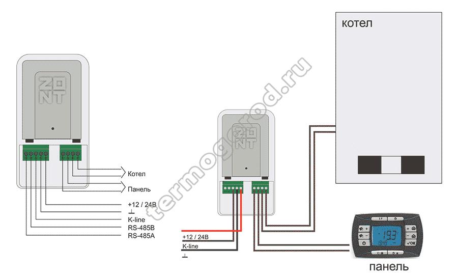 zont adapter opentherm eco схема подключения 1