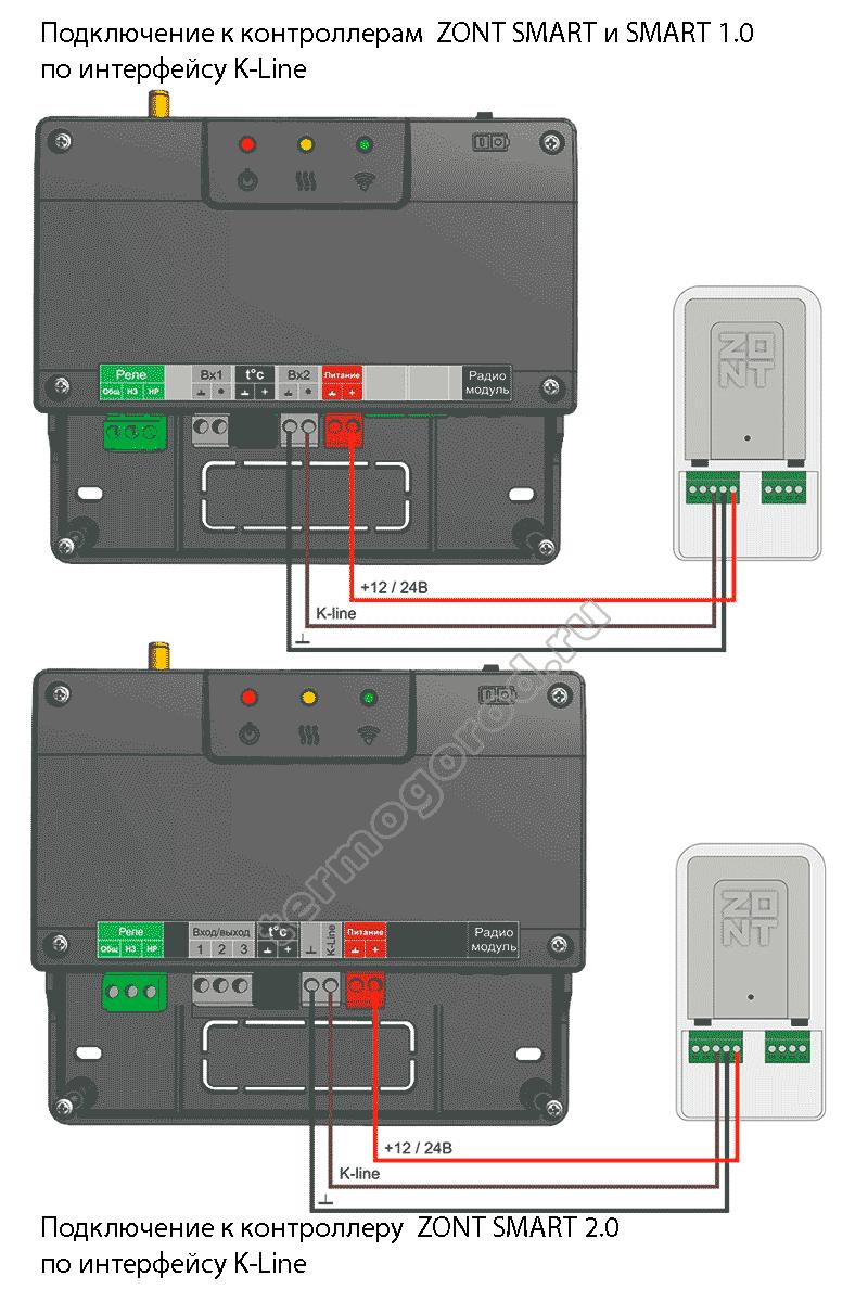 zont adapter opentherm eco схема подключения 3