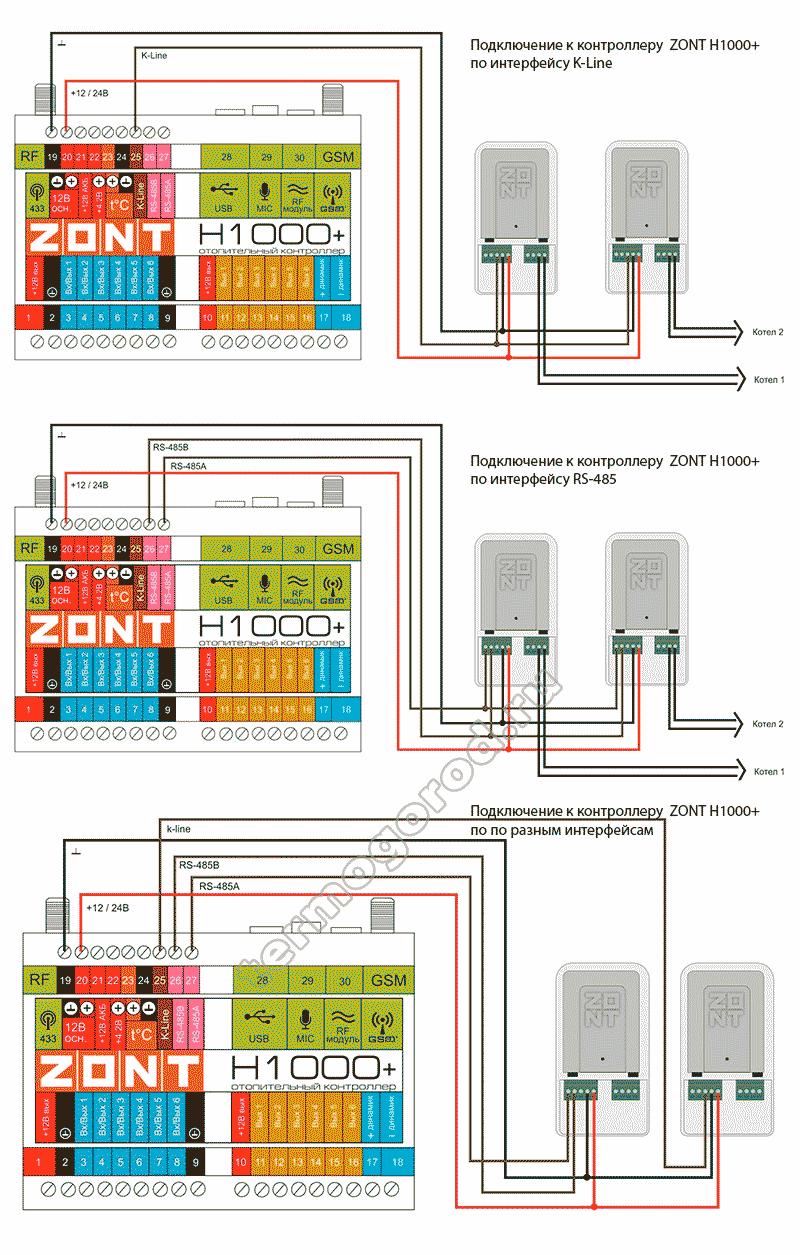 zont adapter opentherm eco схема подключения 4