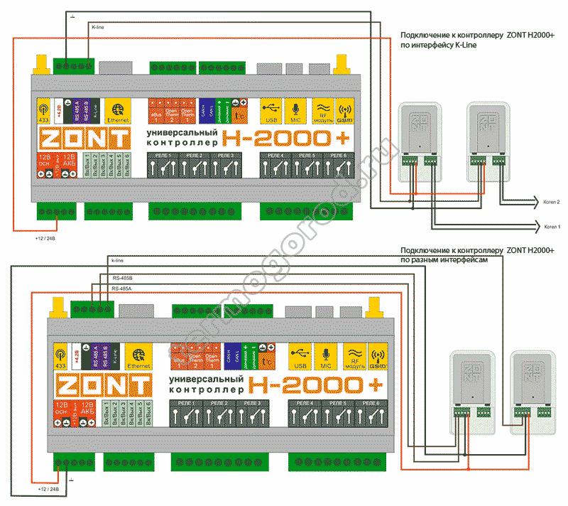 zont adapter opentherm eco схема подключения 5