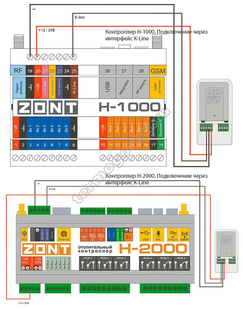 zont adapter opentherm eco схема подключения 6