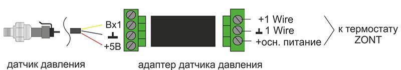 Соединение Адаптера датчика давления Zont