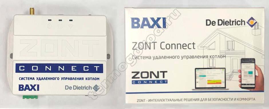 упаковка gsm термостата zont connect
