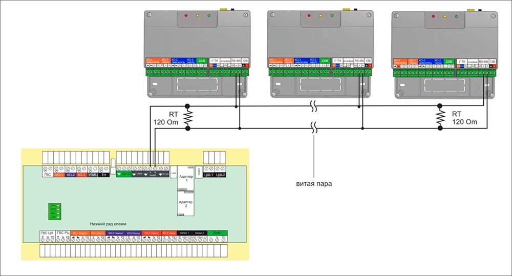 Схема подключения Zont EX-77
