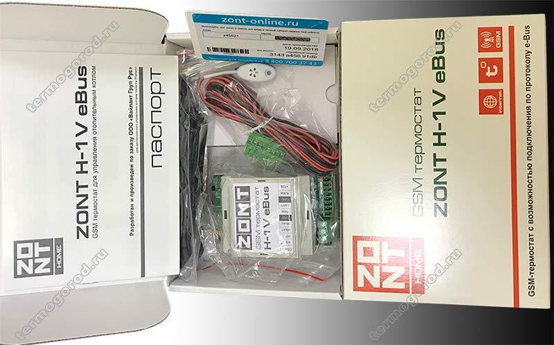 Упаковка Zont H-1V E-BUS