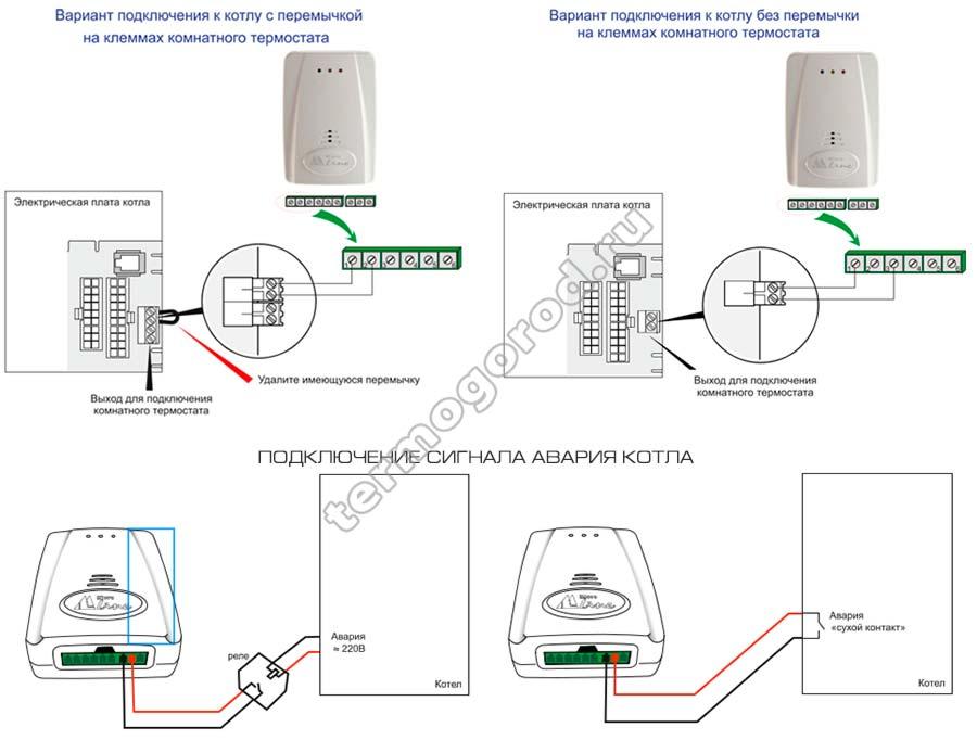 Схема подключения gsm термостата Zont LITE