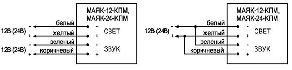 Схема подключения МАЯК-12-КПМ